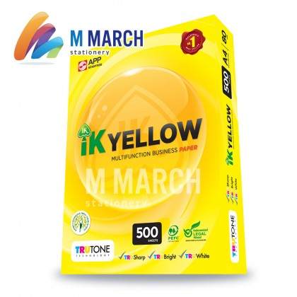 IK Yellow Multifunction Business Paper A4 80gsm 500 Sheets