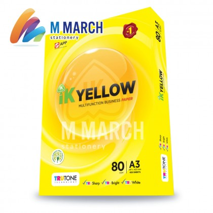 IK Yellow Multifunction Business Paper A3 80 gsm 450 Sheets