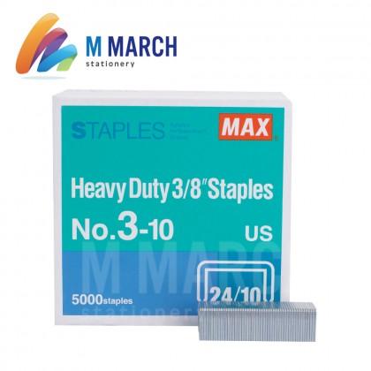 """MAX Staples Heavy Duty 3/8"""" - 24/10 ( 3-10 )"""